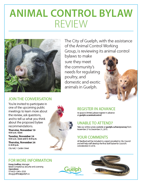 Animal Control Bylaw Review Poster